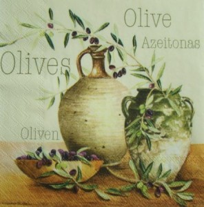 Serwetka do decoupage 1772 Olives, olive, oliven IHR