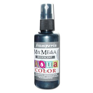Mgiełka Aquacolor Spray Iridescent srebrna perłowa 60ml KAQ 036