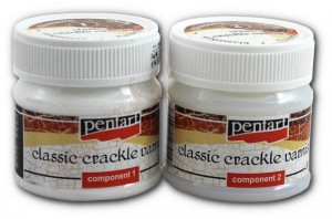Dwuskładnikowy preparat do spękań Pentart Classic crackle varnish 2x50ml