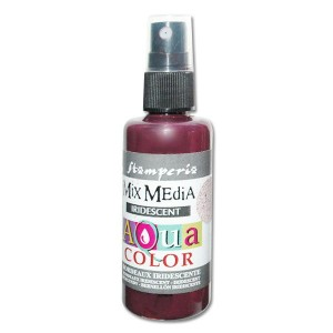 Mgiełka Aquacolor Spray Iridescent bordowa perłowa 60ml KAQ 026