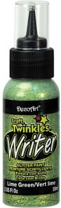 Konturówka brokatowa Craft Twinkles Writer Lime Green Glitter JASNOZIELONA 59ml DCTW 16