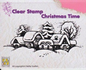 Stempel akrylowy Nellie's Choice Clear Stamp CT009 CHRISTMAS TIME  Snowy Village