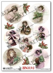 Papier do decoupage Asket BN 032 Winter portraits
