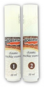 Dwuskładnikowy preparat do spękań Pentart Classic crackle varnish 2x20ml