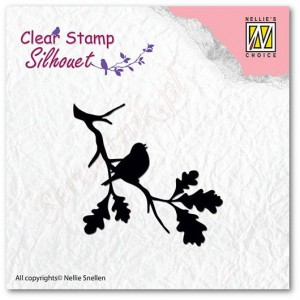 Stempel akrylowy Nellie's Choice Clear Stamp SIL006 SILHOUET