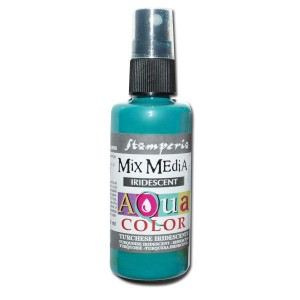 Mgiełka Aquacolor Spray Iridescent turkusowa perłowa 60ml KAQ 030