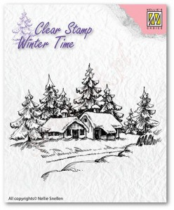 Stempel akrylowy Nellie's Choice Clear Stamp  WT002 WINTERY HOUSE