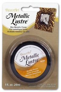 Metaliczna pasta woskowa Decoart Metallic Lustre orange flicker 29ml