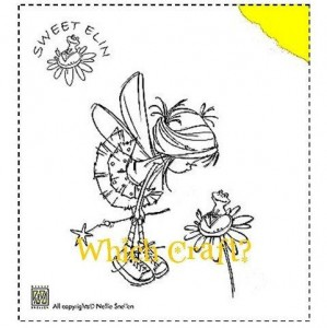 Stempel akrylowy Nellie's Choice Frog on flower