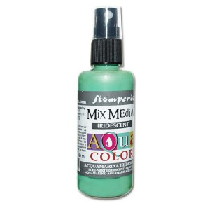 Mgiełka Aquacolor Spray Iridescent akwamaryna perłowa 60ml KAQ 032