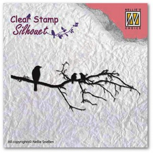 Stempel akrylowy Nellie's Choice Clear Stamp SIL010 SILHOUET
