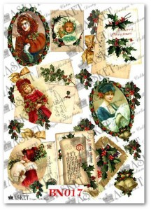 Papier do decoupage Asket BN 017 Victorian winter scene