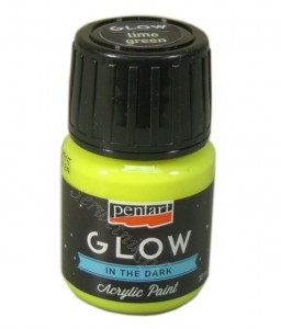 Farba luminescencyjna Pentart GLOW IN THE DARK lime-green 30ml
