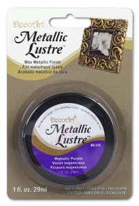 Metaliczna pasta woskowa Decoart Metallic Lustre majestic purple 29ml