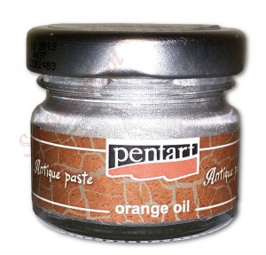 Pasta postarzająca Pentart Antique Paste orange oil SREBRO 20ml