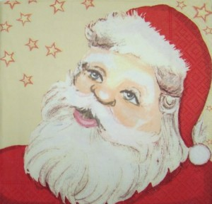 Serwetka do decoupage 1955 Ho, ho, ho - Santa Claus