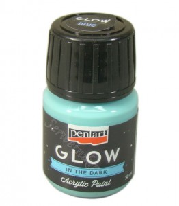 Farba luminescencyjna Pentart GLOW IN THE DARK niebieska 30ml