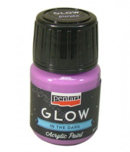 Farba luminescencyjna Pentart GLOW IN THE DARK fioletowa 30ml
