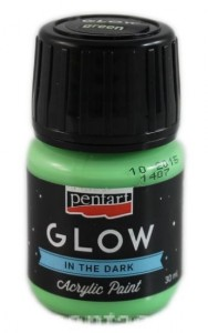 Farba luminescencyjna Pentart GLOW IN THE DARK zielona 30ml