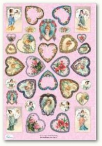 Papier do decoupage Celina 102 Dame Innamorate