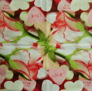 Serwetka do decoupage 2107 Love is sweet