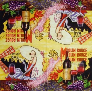 Serwetka do decoupage 2318 Moulin Rouge