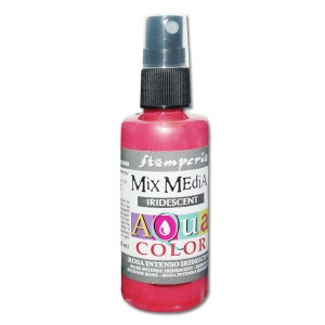 Mgiełka Aquacolor Spray Iridescent różowa perłowa 60ml KAQ 024