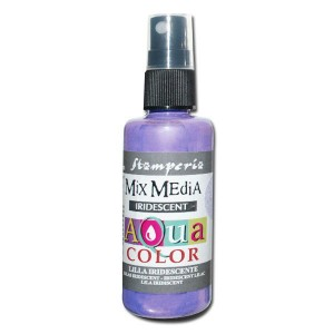 Mgiełka Aquacolor Spray Iridescent lila perłowa 60ml KAQ 027