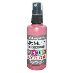 Mgiełka Aquacolor Spray Iridescent różowa perłowa 60ml KAQ 023