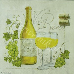 Serwetka do decoupage 2517 Vino Bianco IHR