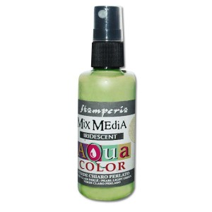 Mgiełka Aquacolor Spray Iridescent jasna zieleń perłowa 60ml KAQ 033