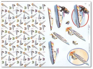 Papier do decoupage 3D Mireille E650 Sporty wodne