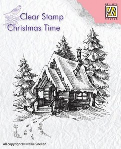 Stempel akrylowy Nellie's Choice Clear Stamp CT022 CHRISTMAS TIME Snowy House 2 CT022
