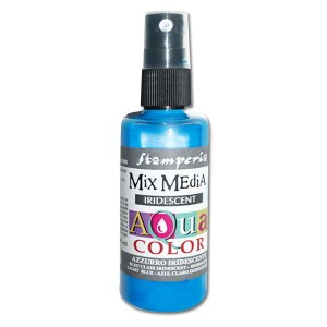 Mgiełka Aquacolor Spray Iridescent błekitna perłowa 60ml KAQ 029