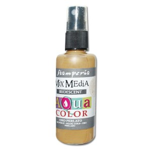 Mgiełka Aquacolor Spray Iridescent złota perłowa 60ml KAQ 021