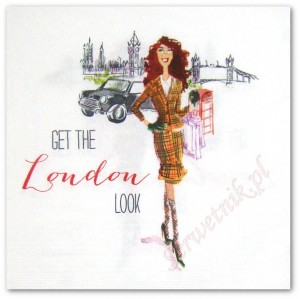 Serwetka do decoupage 3607 Londyńska moda Get the London look