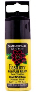 Konturówka 3D Plaid Peinture Relief lśniąca Bright Yellow Shiny 32,5ml