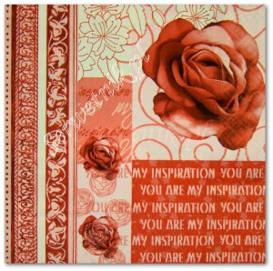 Serwetka do decoupage 2569 Róża - You are my inspiration