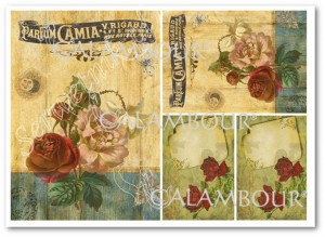 Papier ryżowy Calambour Digital Collection DGR 060 Old Roses