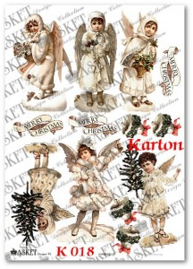 Papier kartonowy do bombek Asket K018 Victorian Angels
