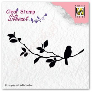 Stempel akrylowy Nellie's Choice Clear Stamp SIL005 SILHOUET5