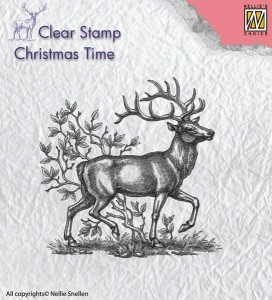 Stempel akrylowy Nellie's Choice Clear stamp CT020 CHRISTMAS TIME CT020 Reindeer