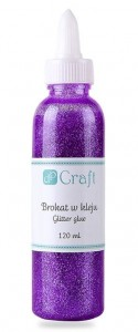 Brokat w kleju dPCraft fioletowy purple 120ml