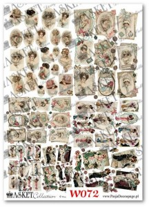 Papier do decoupage Asket W 072 Damy modne vintage