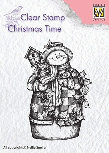 Stempel akrylowy Nellie's Choice Clear Stamp CHRISTMAS TIME CT025