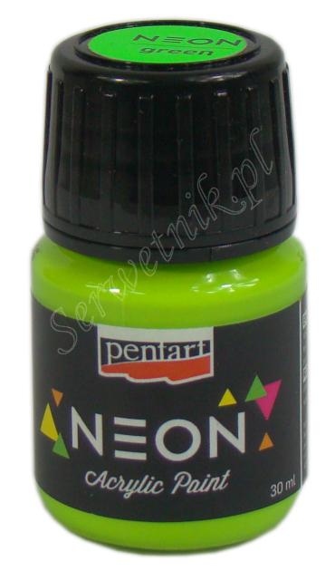 Farba Neonowa Pentart Neon Acrylic Paint Zielona 30ml Serwetnik Pl
